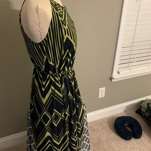 Lime and Navy maxi dress size 12